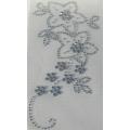 Nažehlovací Kamínky č. 59 Květiny na stonku bílé