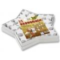 Dárkové krabičky z kartonu Hvězdičky bílé, 25ks