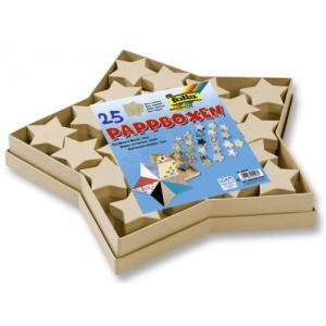 Dárkové krabičky z kartonu Hvězdičky přírodní, 25ks
