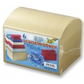 Dárkové krabičky z kartonu Truhličky barevné, 6ks mix velikostí