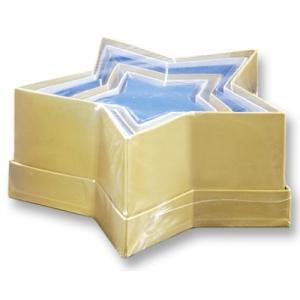 Dárkové krabičky z kartonu Hvězdičky barevné, 6ks mix velikostí