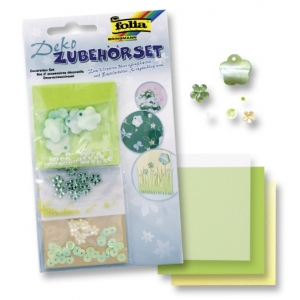 Sada dekorací Celoroční č. 8 - Zelené květinky