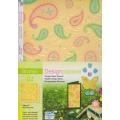 Designový papír 5 listů Květiny 2