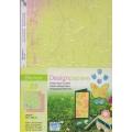 Designový papír 5 listů Květiny 3