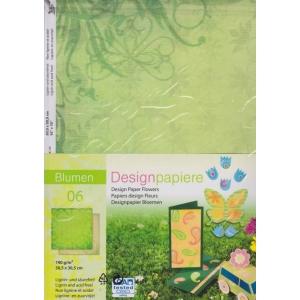 Designový papír 5 listů Květiny 6