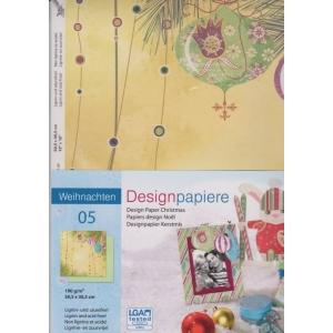Designový papír 5 listů Vánoce 5