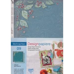 Designový papír 5 listů Vánoce 9