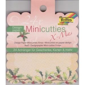 Designový papír jmenovky 24 ks Vánoce, mix 8 designů
