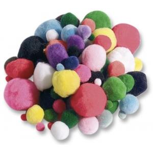 Pompony 100ks, mix velikostí a barev