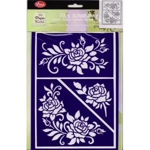 Flex šablona D85 Růže