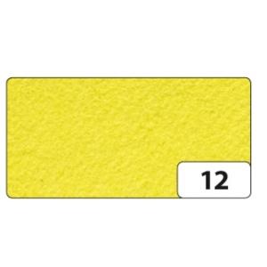Hobby Filc 150g/m2 10 listů 20x30cm citrónově žlutý