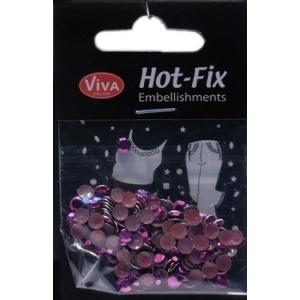 Hot-Fix nýtky Osmihran purpurový 5mm