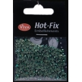 Hot-Fix nýtky Osmihran zelený 3mm