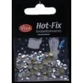 Hot-Fix nýtky Osmihran stříbrný 5mm