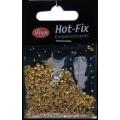 Hot-Fix nýtky Osmihran zlatý 3mm