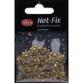 Hot-Fix nýtky Osmihran zlatý 4mm
