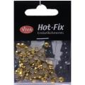 Hot-Fix nýtky Osmihran zlatý 5mm