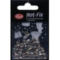 Hot-Fix nýtky Šestihran efekt chrom 6mm