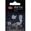 Hot-Fix nýtky Srdíčka efekt chrom 6mm