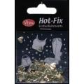 Hot-Fix nýtky Srdíčka zlatá malá 7mm