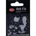 Hot-Fix nýtky Srdíčka černá malá 7mm