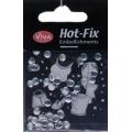 Hot-Fix nýtky Stříbrné ploché vzor 5mm