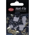Hot-Fix nýtky Elipsa zlatá 8x4mm
