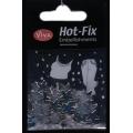 Hot-Fix nýtky Hvězdičky stříbrné 10mm