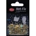 Hot-Fix nýtky Hvězdičky zlaté 10mm