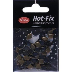 Hot-Fix nýtky Kosočtverec bronzový hladký 7x10mm