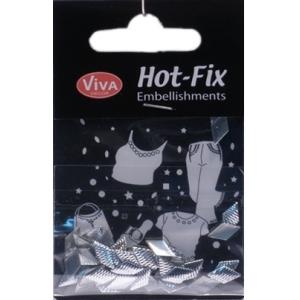 Hot-Fix nýtky Kosočtverec stříbrný vzor 10x6mm