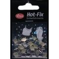 Hot-Fix nýtky Kosočtverec stříbrný hladký 7x10mm