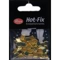 Hot-Fix nýtky Kosočtverec zlatý hladký 7x10mm