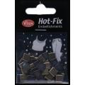 Hot-Fix nýtky Čtverečky bronzové 8mm