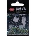 Hot-Fix kamínky Osmihran Zelený duhový 3mm