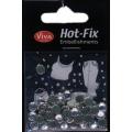 Hot-Fix kamínky Transparentní ve stříbře 6mm
