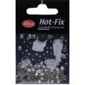 Hot-Fix kamínky Duhové ve stříbře 4mm