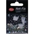 Hot-Fix kamínky Duhové ve stříbře 5mm