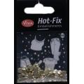Hot-Fix kamínky Duhové ve zlatě 5mm