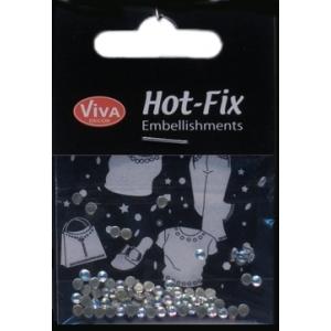 Hot-Fix kulaté transparentní duhové 3mm