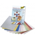 Kreativní karton 230g, 10 listů 23x33cm, Kladívkový vzor metallic mix 10 barev