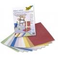 Kreativní karton 230g, 10 listů 23x33cm, Jutová vlákna metallic mix 10 barev