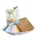 Kreativní karton 230g, 10 listů 23x33cm, Nitkový vzor metallic mix 10 barev