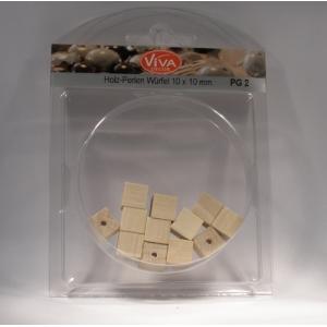 Dřevěné korálky Kostičky 10x10mm