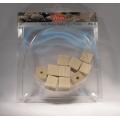 Dřevěné korálky Kostičky 12x12mm