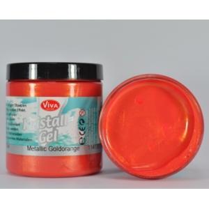 Křišťálový gel Metalicky zlatooranžový 250ml