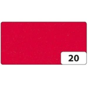 Moosgummi 10 archů 20x29cm červená