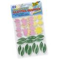 Glittrové samolepky moosgummi Květinky