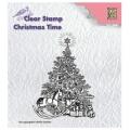Silikonové razítko Vánoční stromeček s dárky