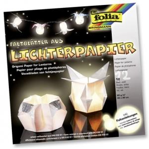 Origami papír na svícny bílý 80g